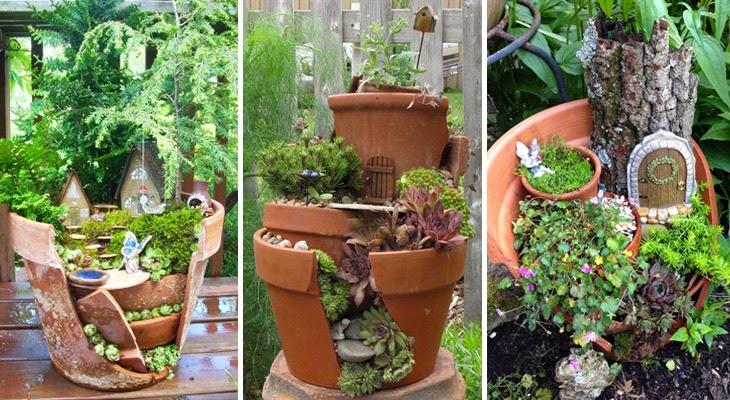 broken terracotta pot DIY