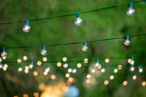 string lights outside
