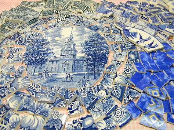 broken mosaic plate
